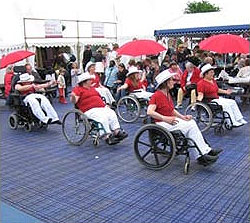 "The ""High Spirits"" Wheelchair Line Dancers at the Royal Bath and West Show"